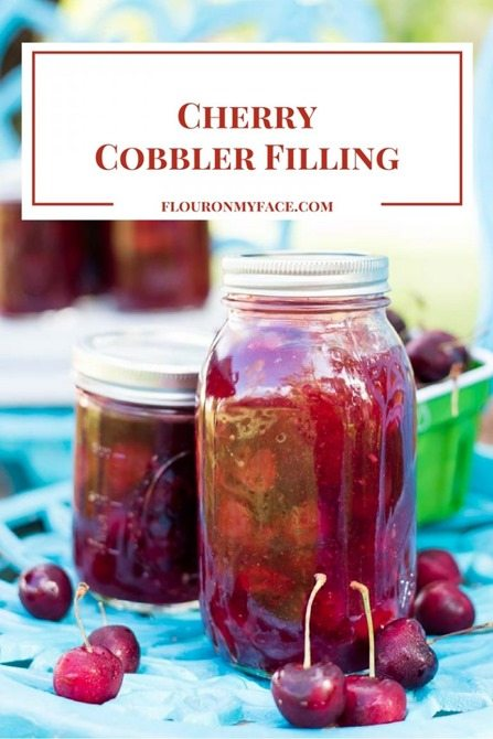 homemade cherrry cobbler filling