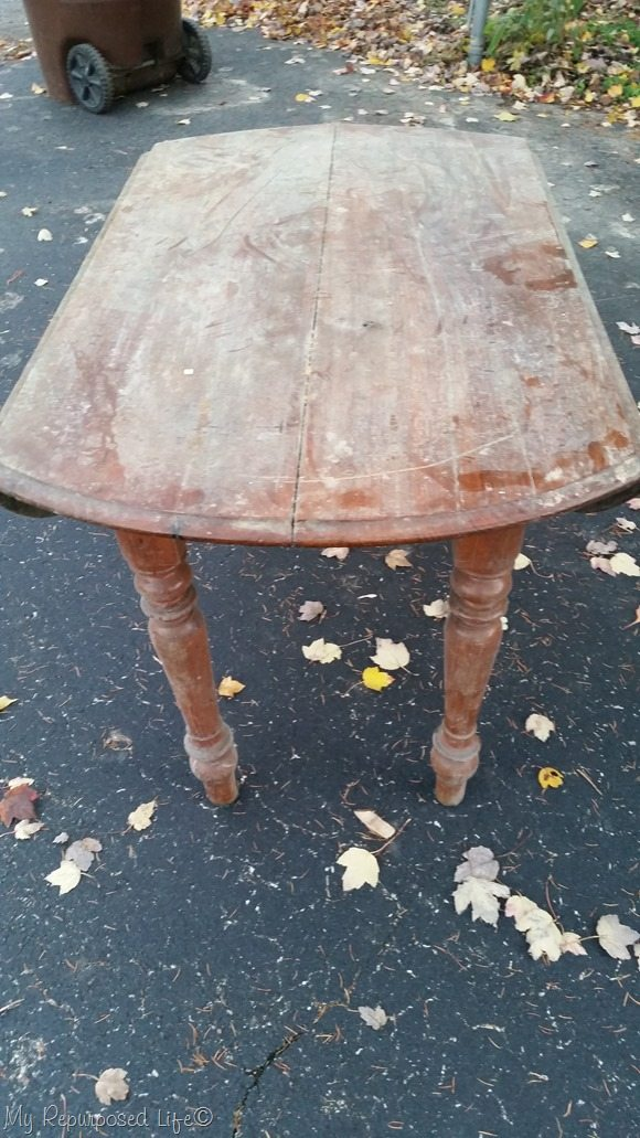 old oak table