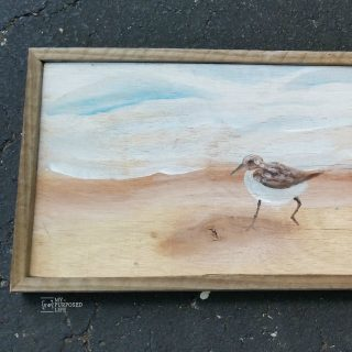 How to make a reclaimed artwork rustic frame