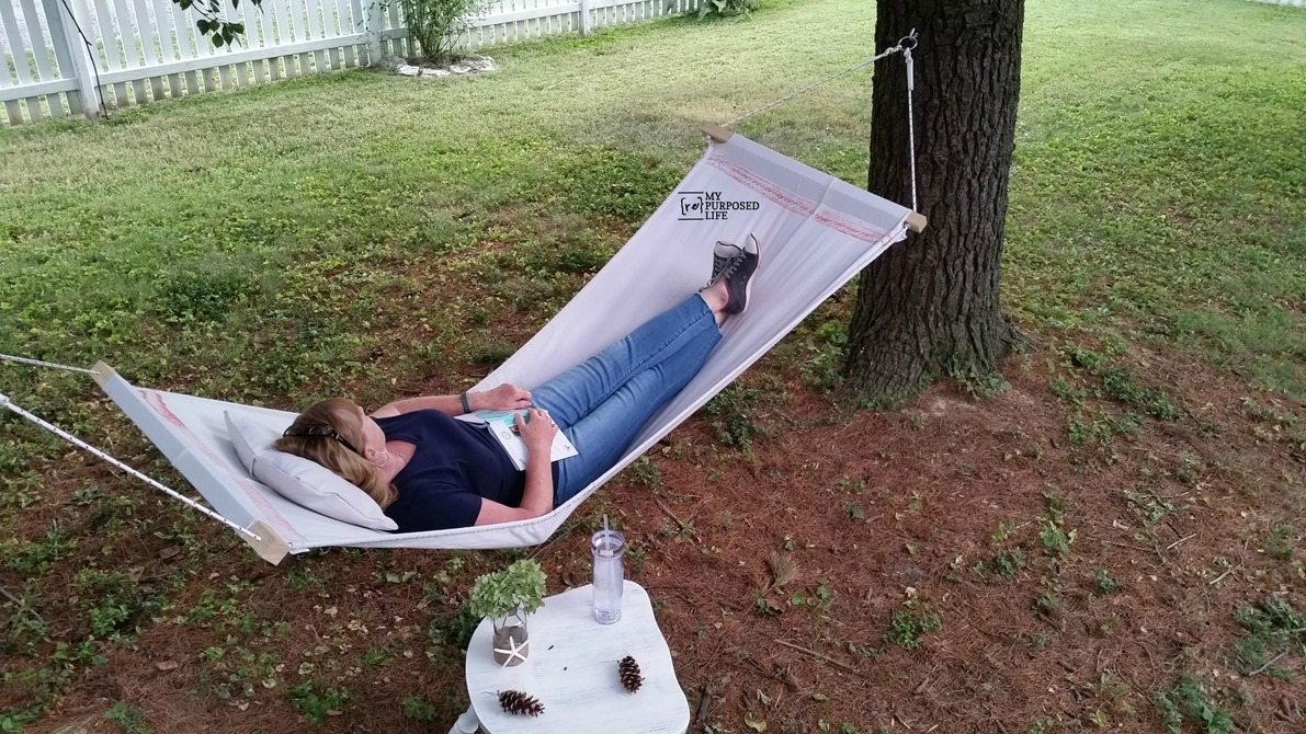 DIY drop cloth hammock MyRepurposedLife.com