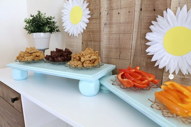 Serving trays made from drawer fronts and spindles