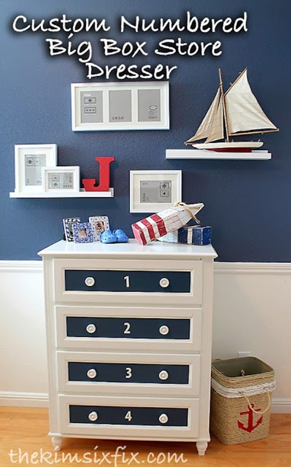 customized numbered drawer dresser