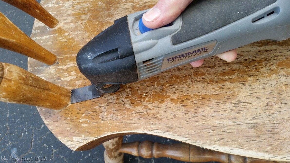 flush cutting with dremel