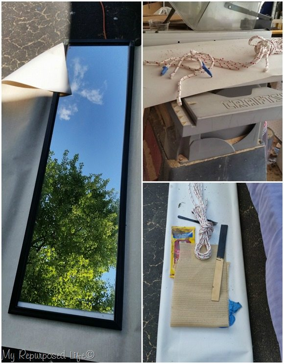 Rustic Full Length Mirror Makeover - My Repurposed Life®