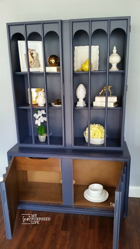 mid century hutch bottom cabinet
