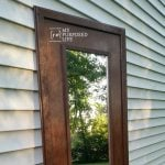 Rustic Full Length Mirror Makeover