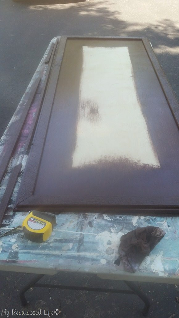 stain frame for full length mirror