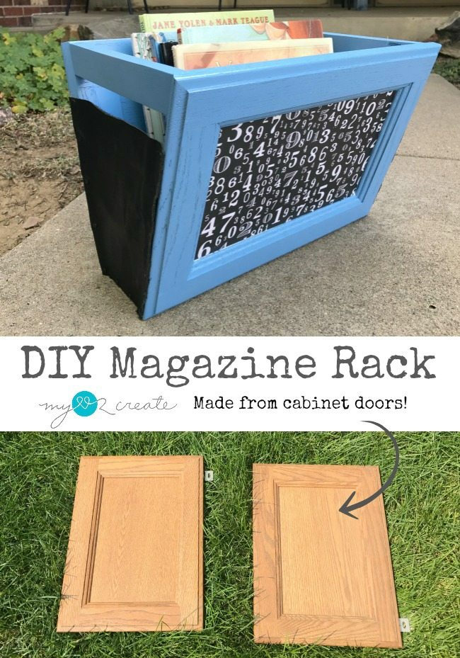 cabinet door magazine rack my repurposed life
