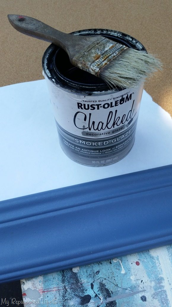 chalked smoked glaze