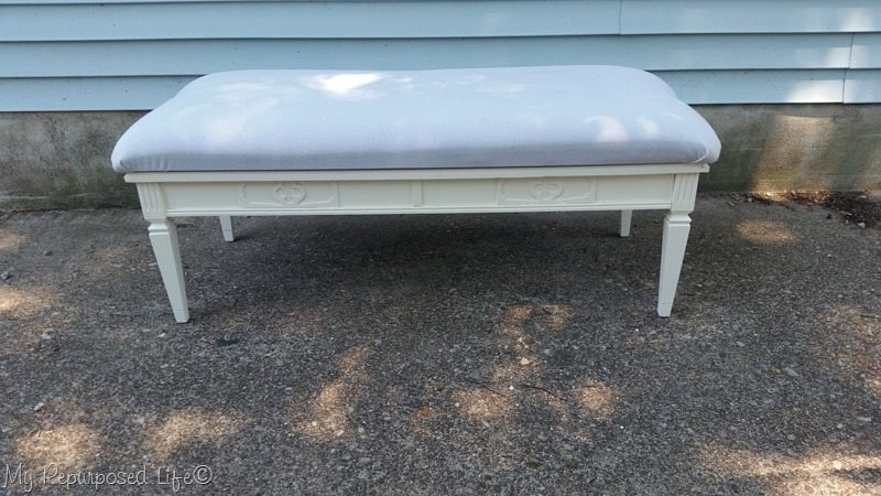 coffee table into upholstered bench