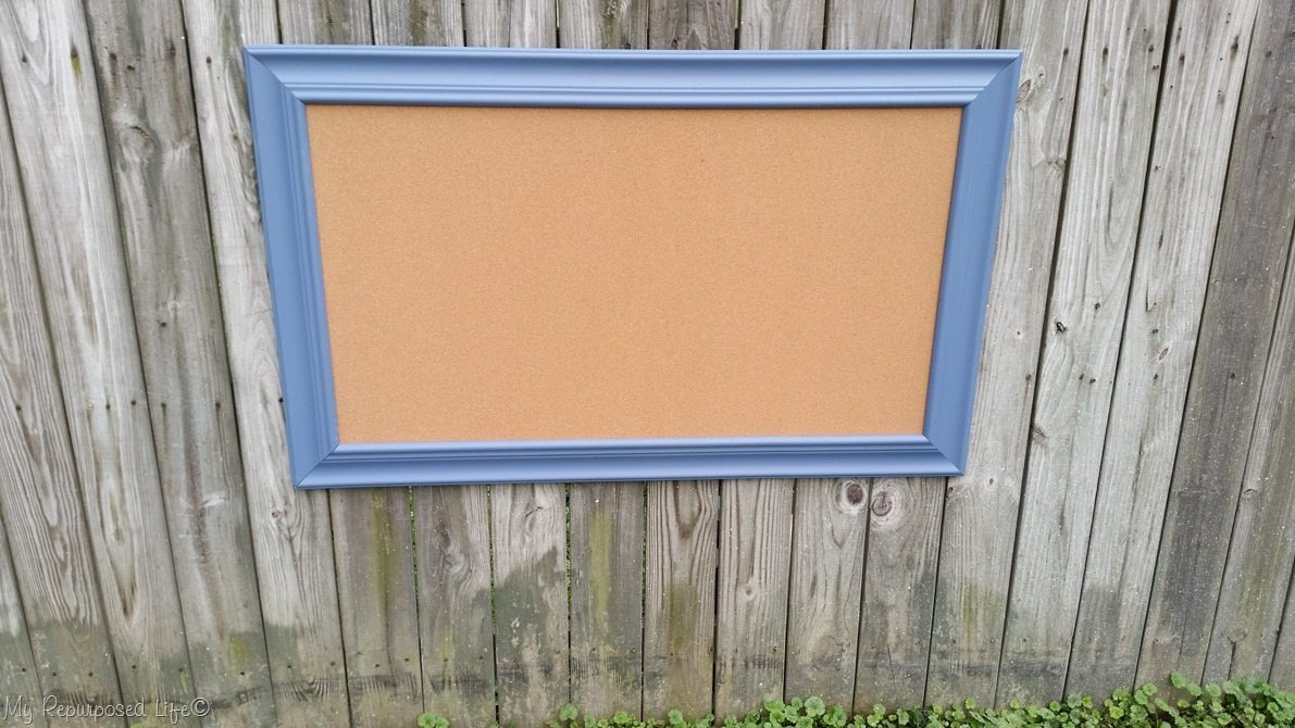 Extra Large Picture Frame Cork Board - My Repurposed Life®