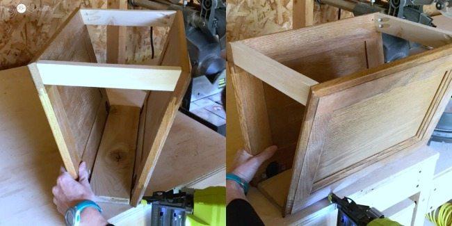 nail cabinet doors to base