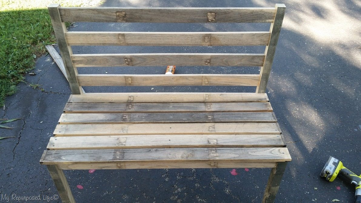 quick and easy diy rustic bench