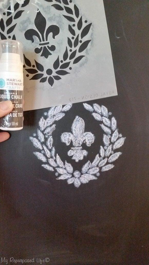 Chalkboard Stenciling