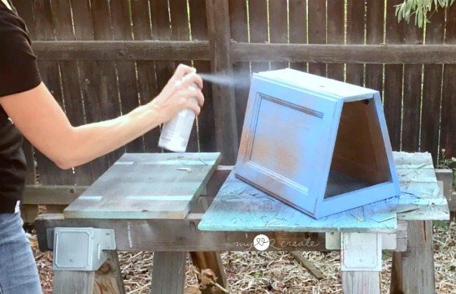 spray painting magazine rack