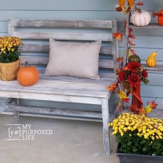 Wooden Slat Bench Plans | Rustic Bench with Back