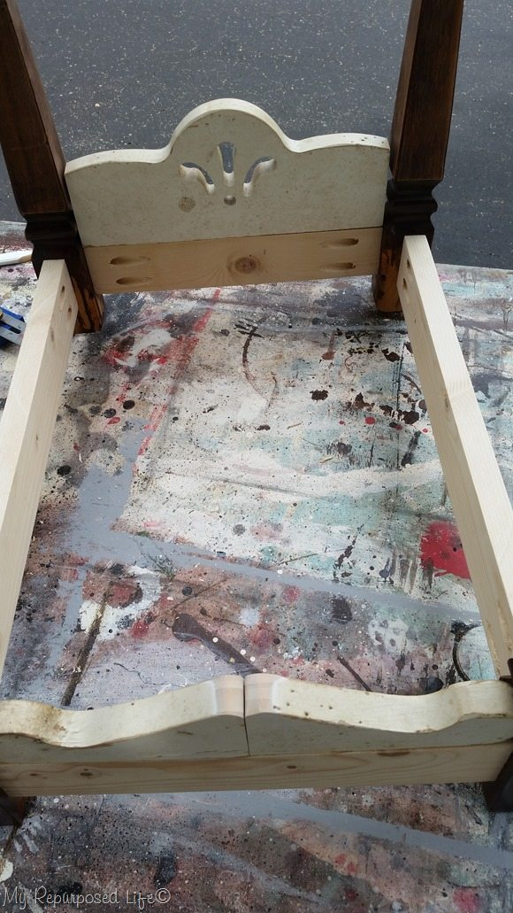 add scrap pieces for doll bed dog bed headboard