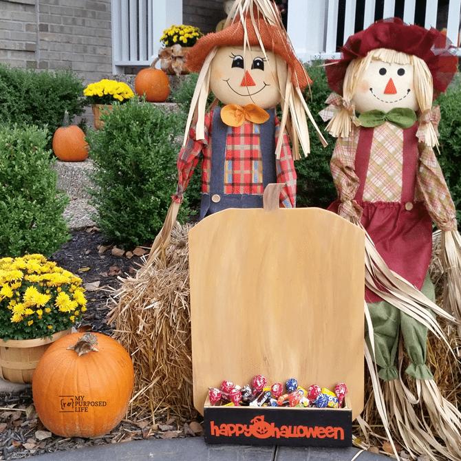 dih workshop harvest yard sign pumpkin candy holder MyRepurposedLife