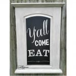 Repurposed Hollow Core Door Chalkboard