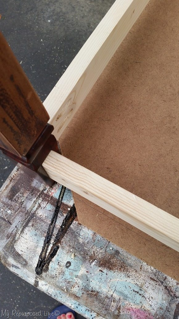 measure mark bottom of dog bed doll bed