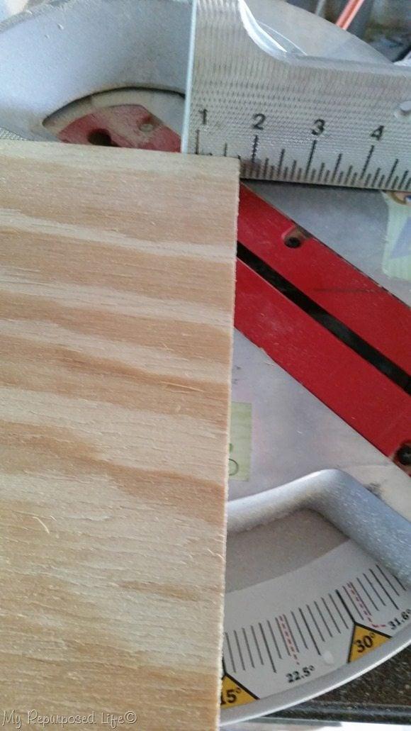 miter cut corners on pumpkin trick or treat candy holder