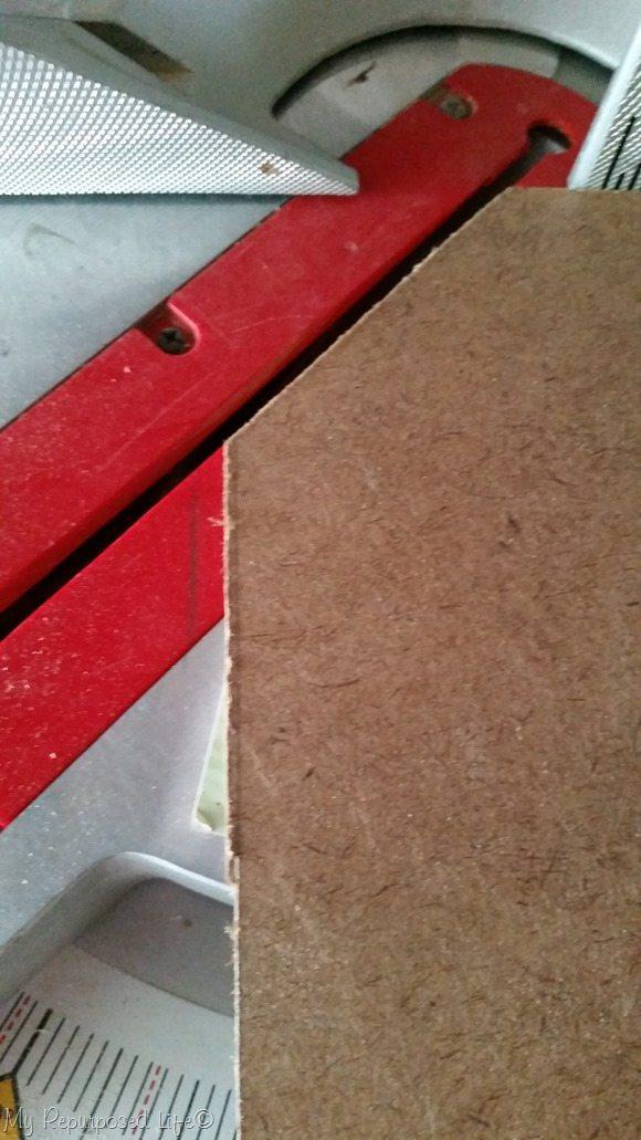 notch dog bed bottom on miter saw
