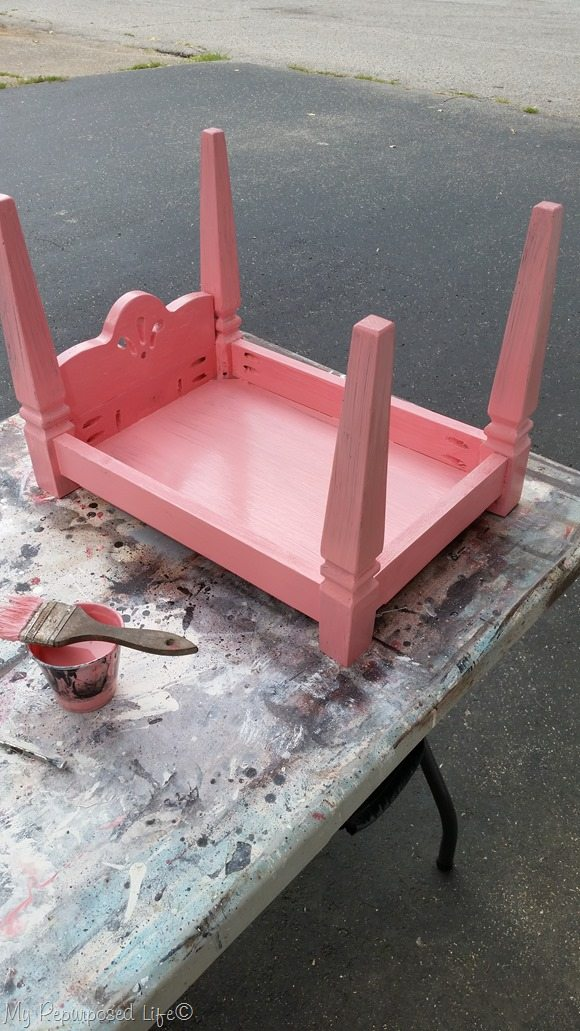 paint dog bed doll bed pink