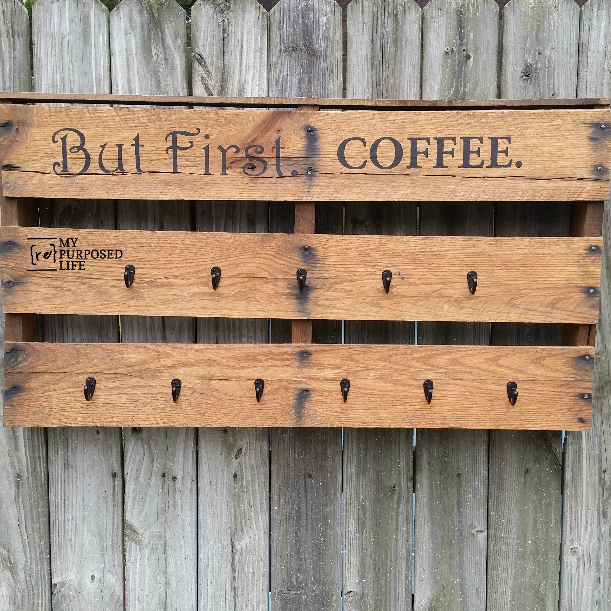 Pallet Coffee Cup Rack My Repurposed Life Rescue Re Imagine Repeat