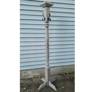 Porch Post Coat Rack made from a Newel Post