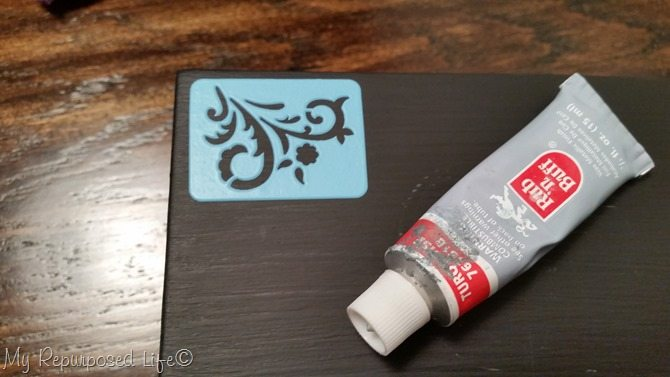 stenciling with rub-n-buff