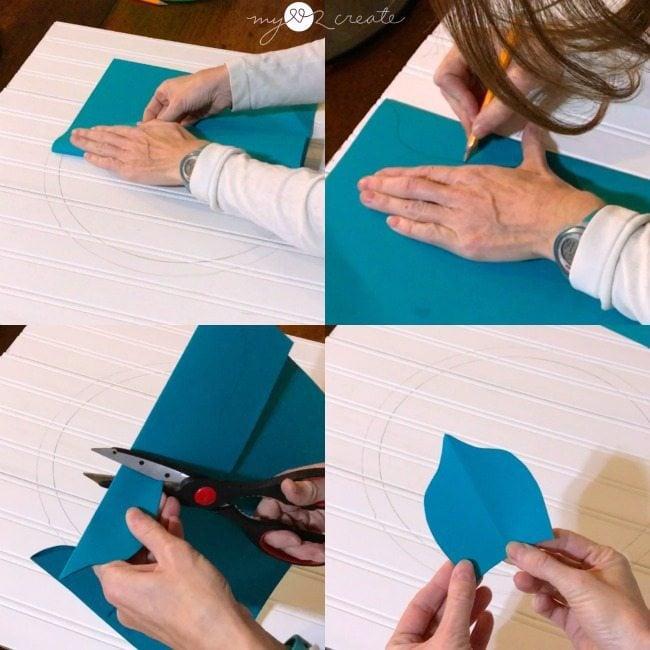Cutting out petal shape