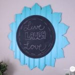 Decorative flower chalkboard