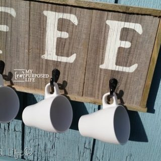 Rustic Coffee Sign Mug Holder