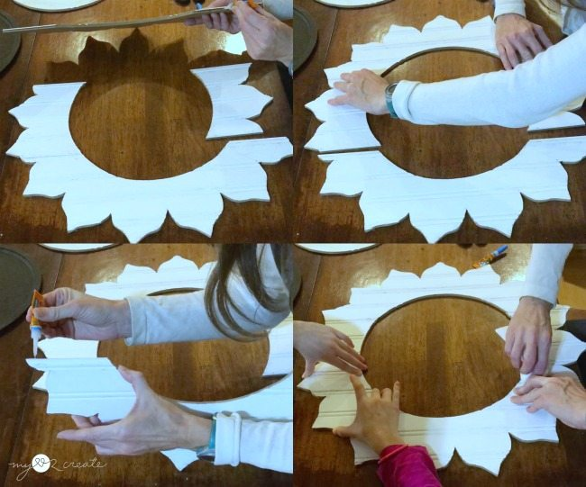 super gluing bead board pieces together