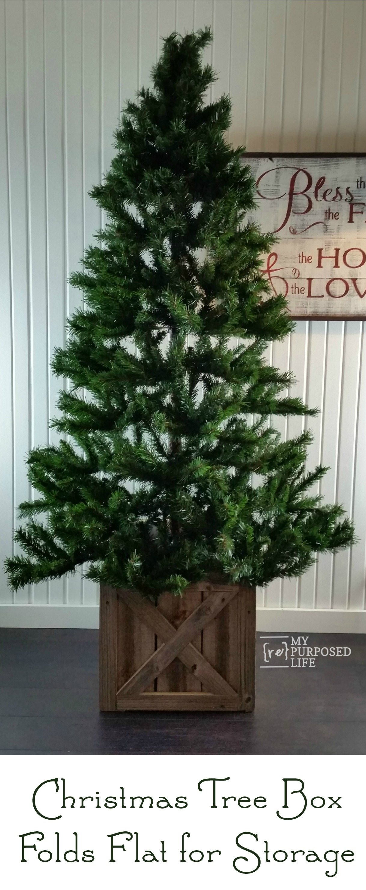 Christmas Tree Stand Box | Folds Flat for Storage - My ...