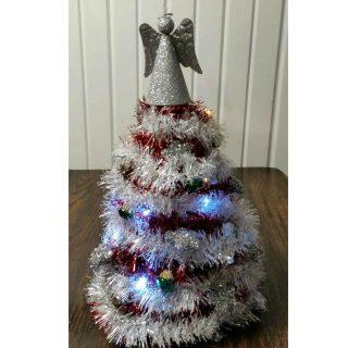 Dollar Store Garland Christmas Tree