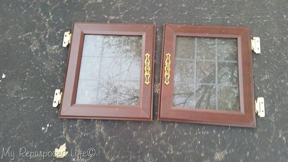 glass paned cupboard doors