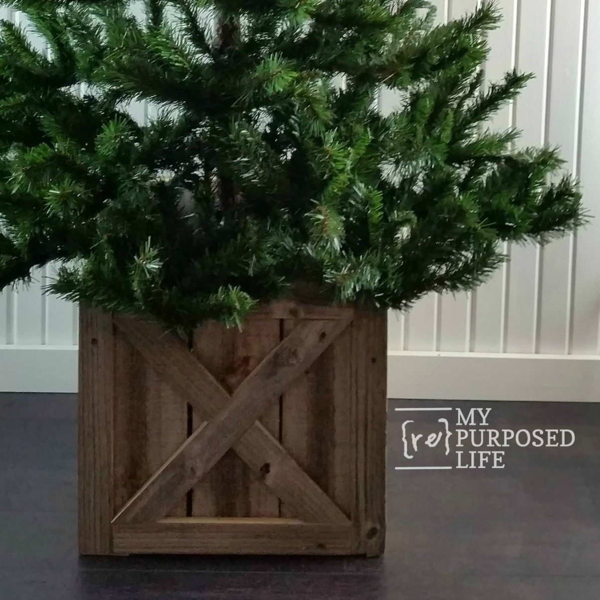 christmas tree stand box folds flat for storage my repurposed life - Christmas Tree Stand Amazon