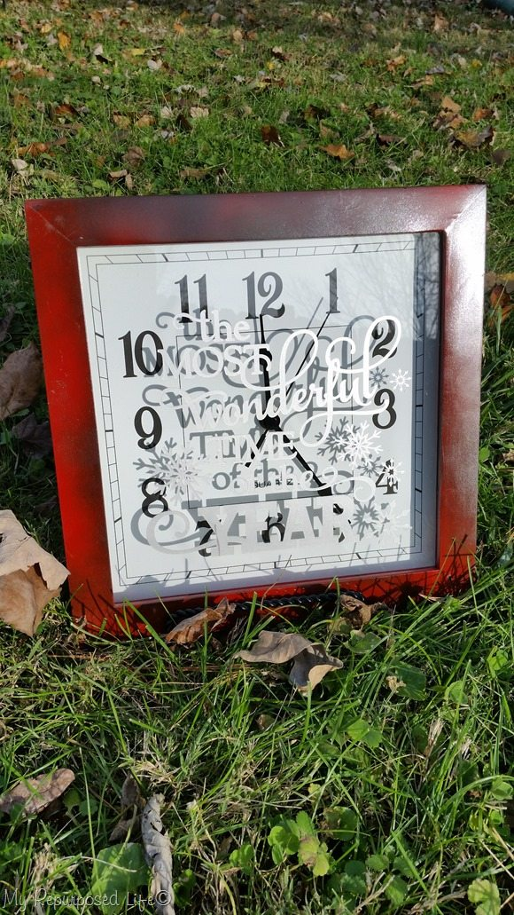 old clock frame repurposed