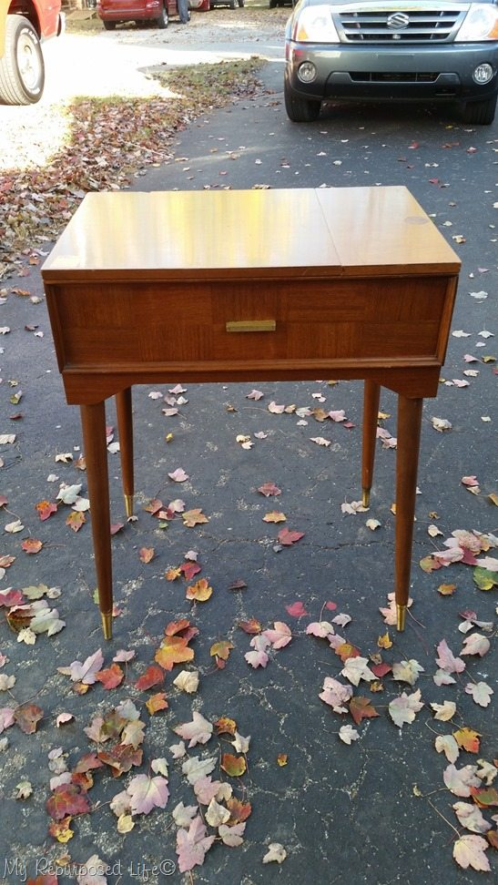 MCM sewing cabinet makeover