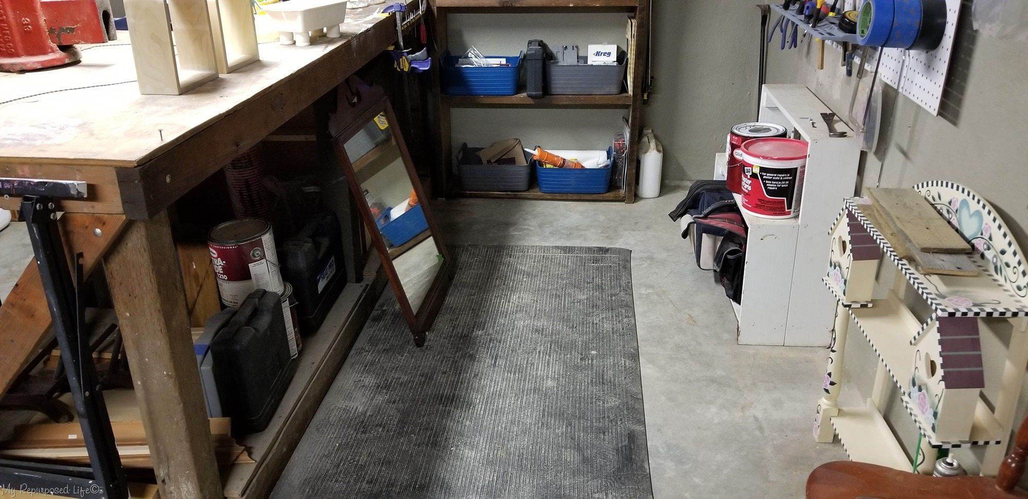 basement shop after