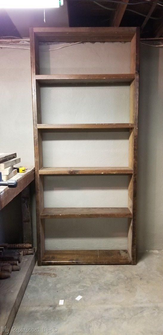 easy build storage shelf for basement shop
