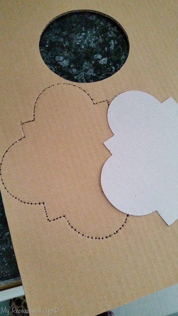 make cardboard stencil