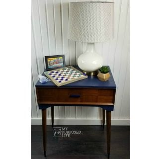 Navy Blue Sewing Cabinet Makeover