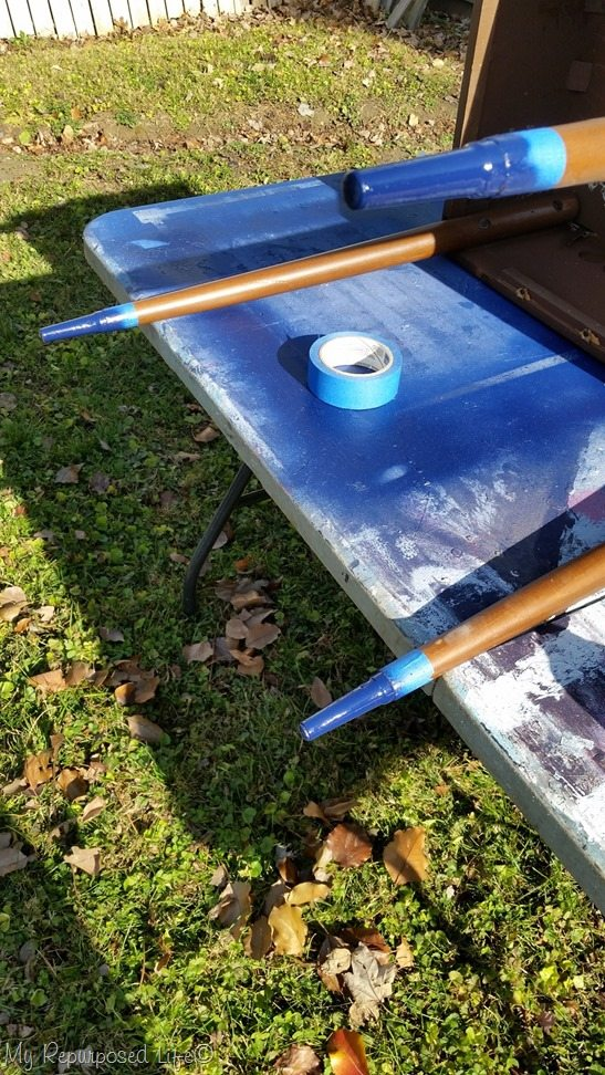 spray paint mcm metal legs