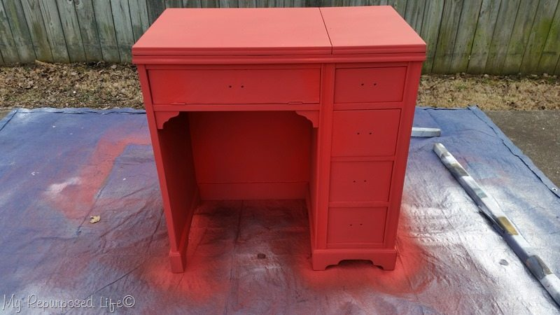heirloom traditions paint peppery for vintage sewing cabinet