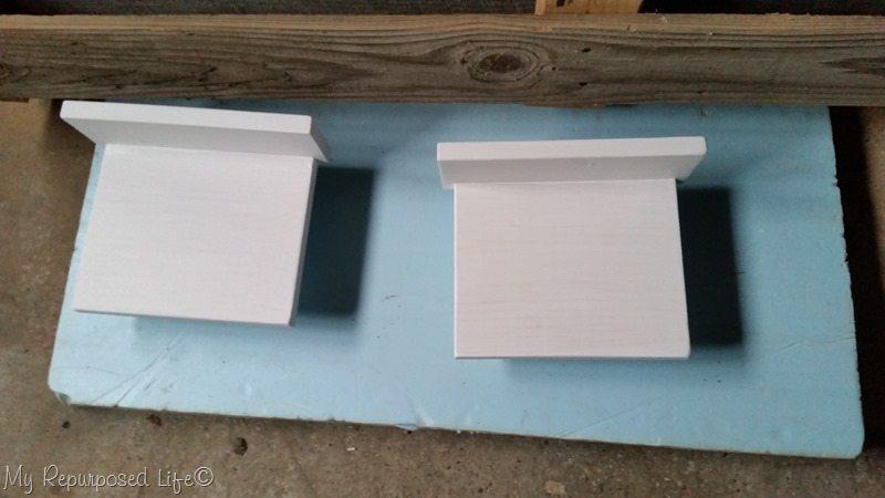 paint small shelf headband organizers white