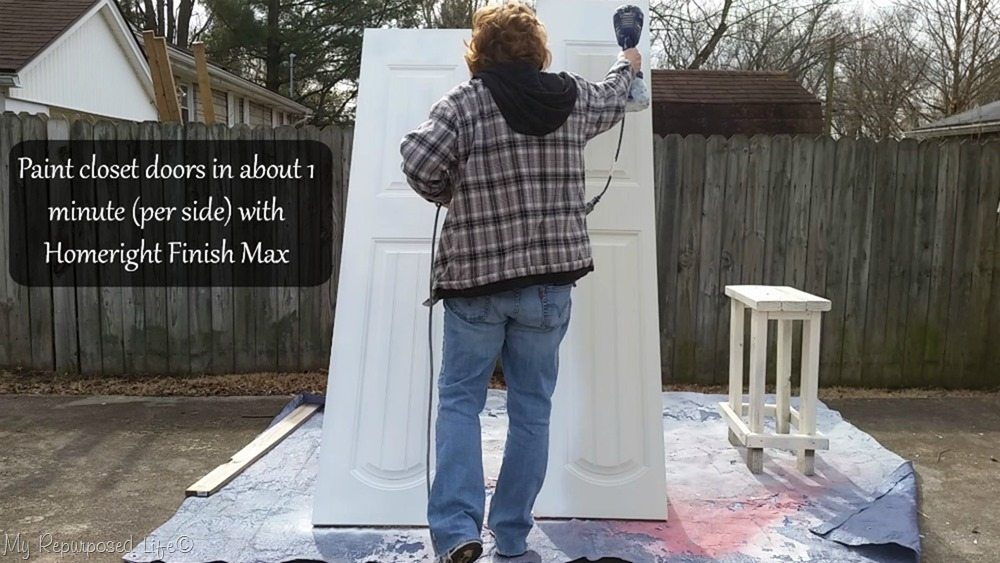 Gail Wilson Paints Closet Doors with Finish Max quick and easy