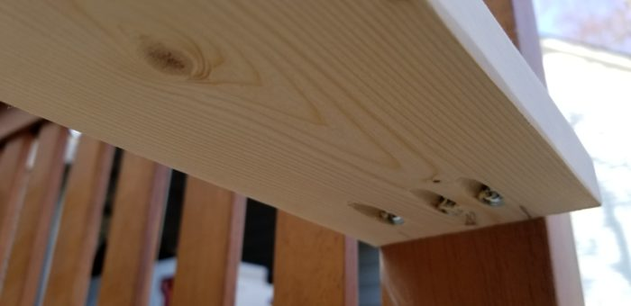 how to add armrests to headboard bench