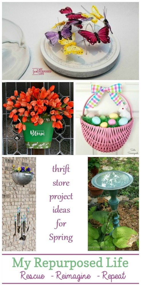 thrift store project ideas for spring MyRepurposedLife.com